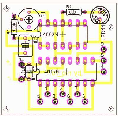 CD4017 = CMOS decade counter with 10 decoded outputs ...
