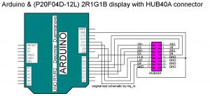 HUB40A Arduino test schematic