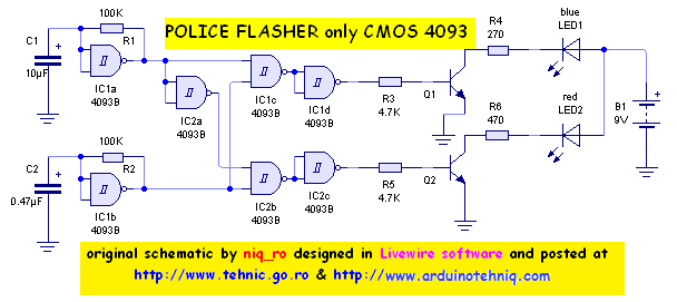 gatted oscillator with 4093
